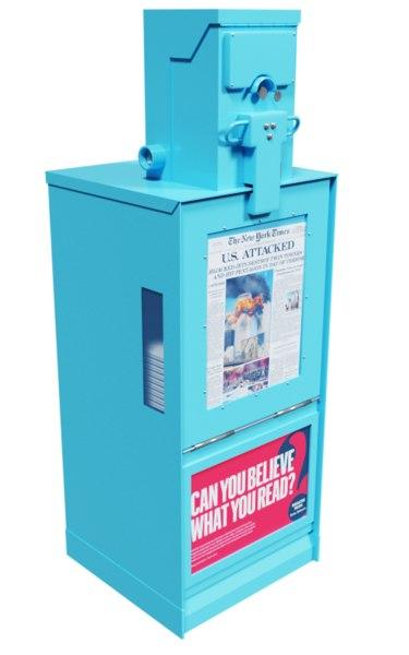 newspaper vending machine 3D model