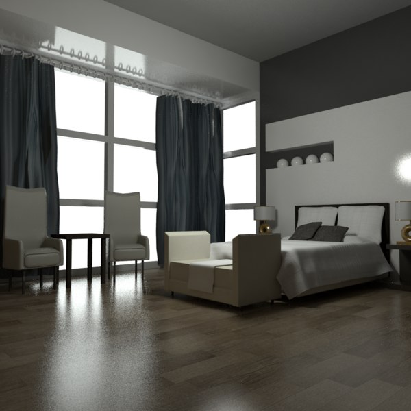 3D room bedroom interior