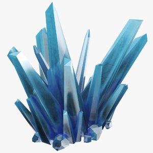 blue crystals 3D model