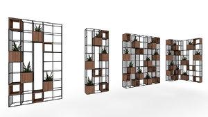 3D shelf plant