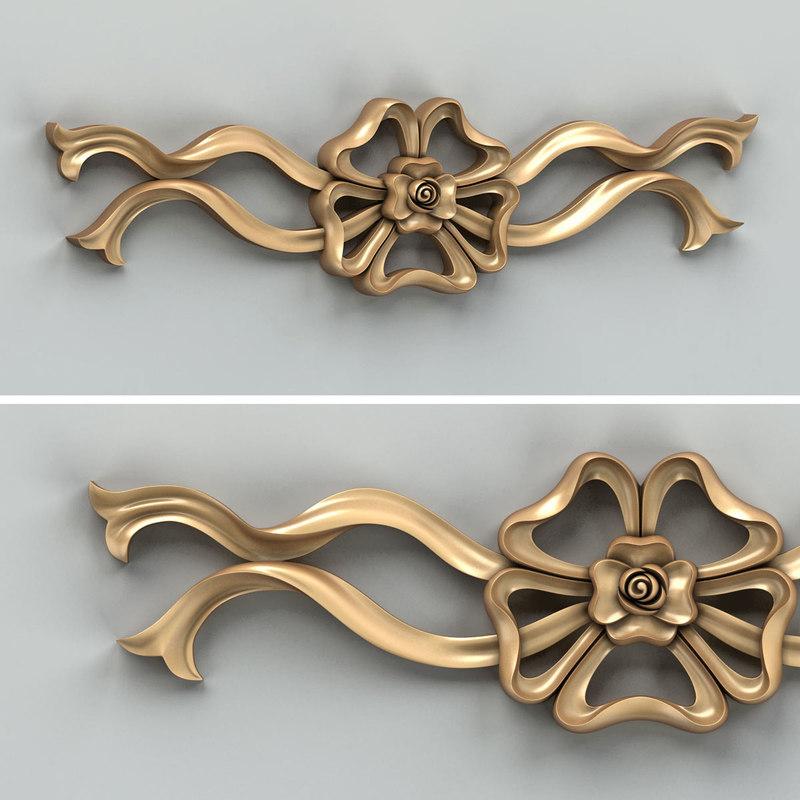 carved horizontal decor 3D model