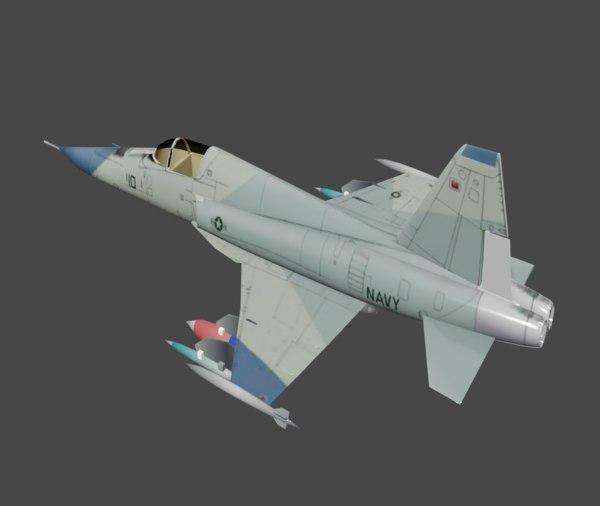 northrop fighter f-5e 3D
