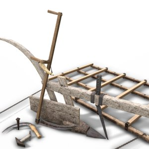 medieval agricultural assets hammer 3D model