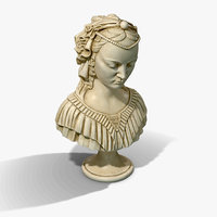 PBR Low Poly Madonna Bust