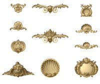 shells architectural decor collection