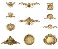 kolekcja dekoracji architektonicznych muszli