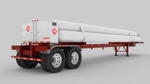 tube trailer 3D model