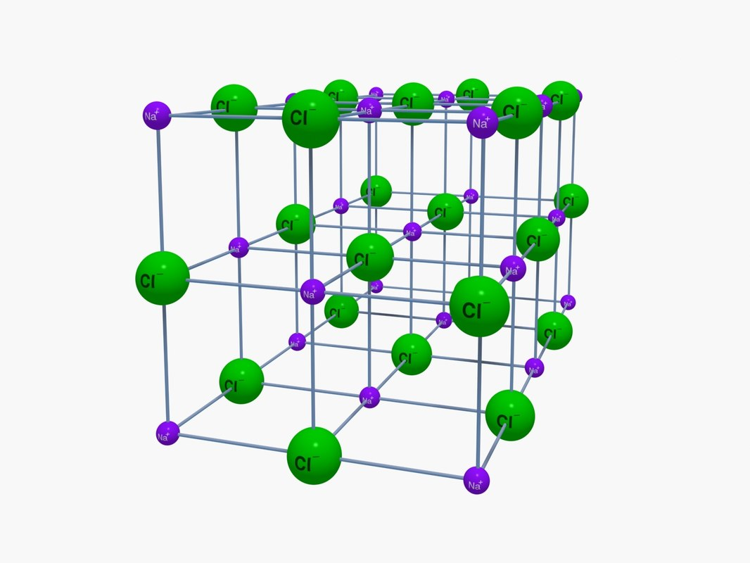 3D model na-cl lattice structure
