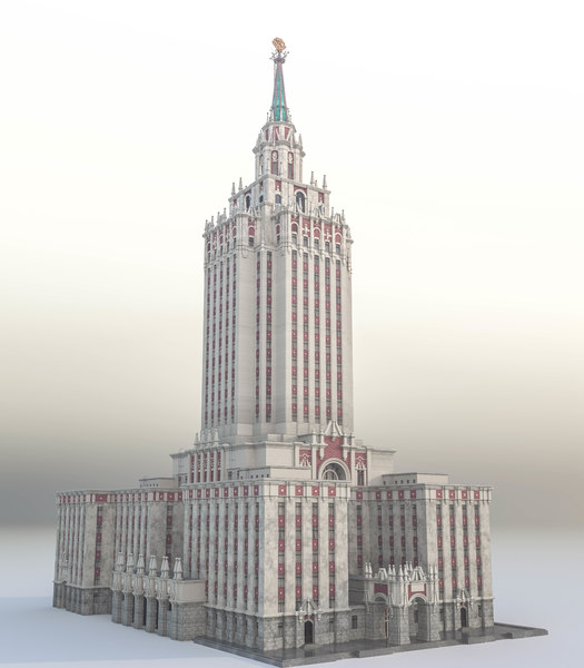 historical building moscow stalinist model