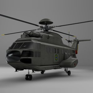 3D model eurocopter as332 brazil air force