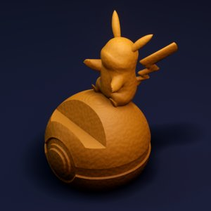 3D pikachu phone base print model