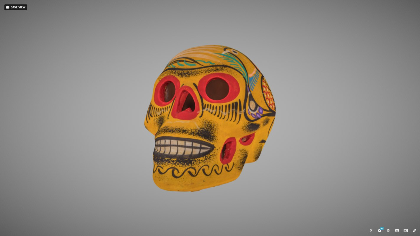 painted sugar skull 3D model