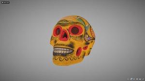 painted sugar skull 3D model