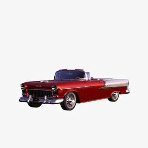 1955 bel air convertible 3d max