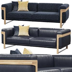 3D natuzzi dalton sofa