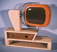 3D old tv vintage model