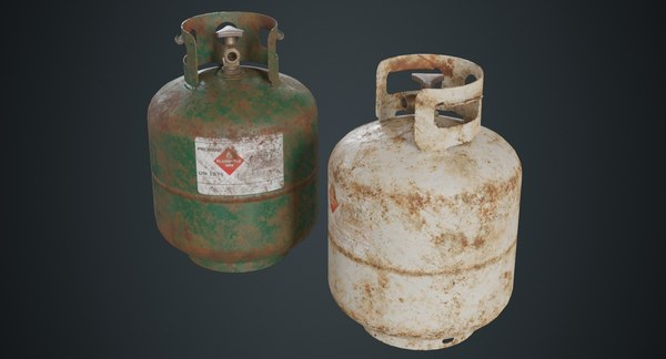 3D propane tank contains 1b
