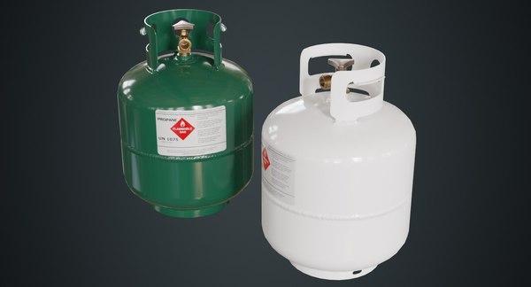 3D propane tank contains 1a