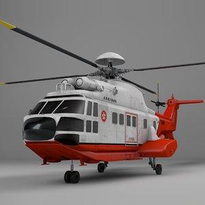 eurocopter as332 hong kong 3D model