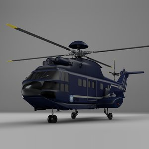 3D eurocopter as332 bundespolizei l076