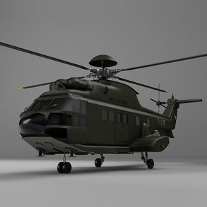 3D eurocopter as332 swiss air force model