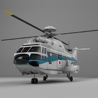eurocopter as332 japan coast guard 3D