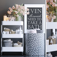 Shelving in the bathroom