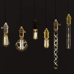 decorative edison led tube 3D model