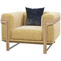natuzzi dalton armchair 3D model