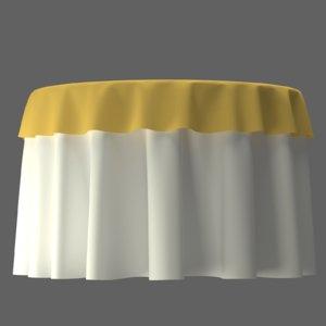 banquet table 3D model