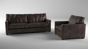 furniture sofa armchair 3D
