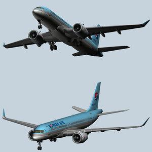 airbus a220 passenger jet 3D model