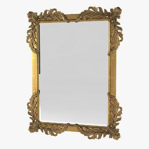 3D golden mirror model