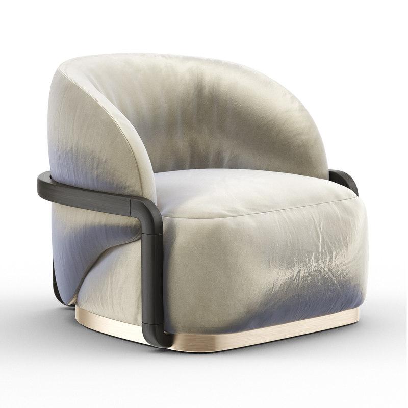 lady peacock armchair 3D