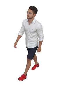 3D scanned people young man model