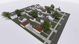 3D block houses