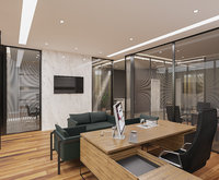 Realistic Office Interior Scene 01