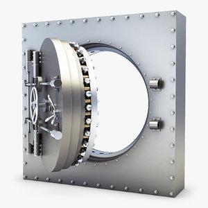 bank vault door v 3D model