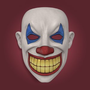 3d clown mask