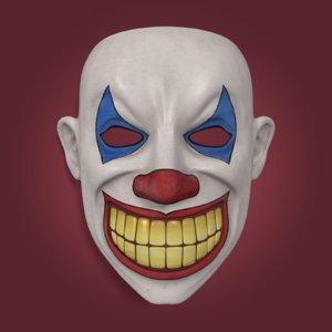 3d clown mask