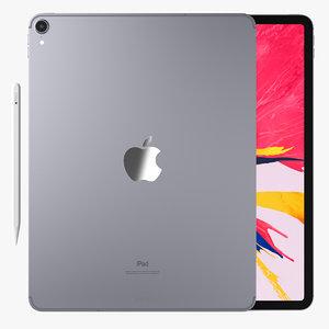 3D apple ipad pro pencil