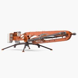 concrete boom pump machine 3D model