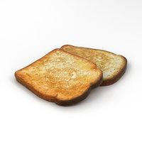 toast bread food model