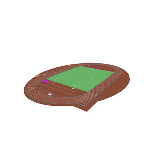iaaf 9 runway 3D model