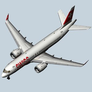 3D swiss air airbus a220