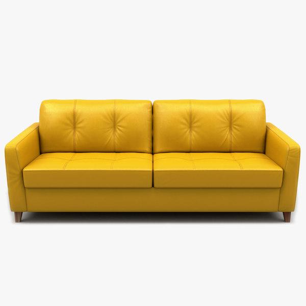 sofa loveseat leather 3D model