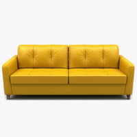 sofa loveseat leather 3D model