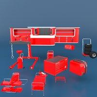 autoservice pack 3D
