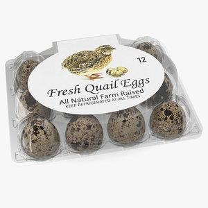 quail eggs plastic box 3D