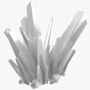 3D white crystals model